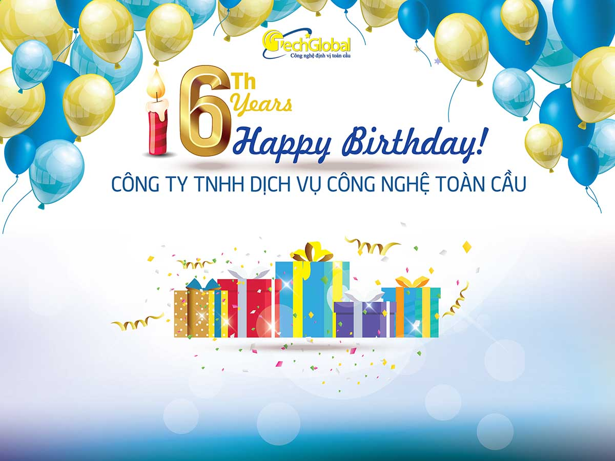 Chương trình khuyến mãi đặc biệt mừng sinh nhật 6 năm thành lập Techglobal