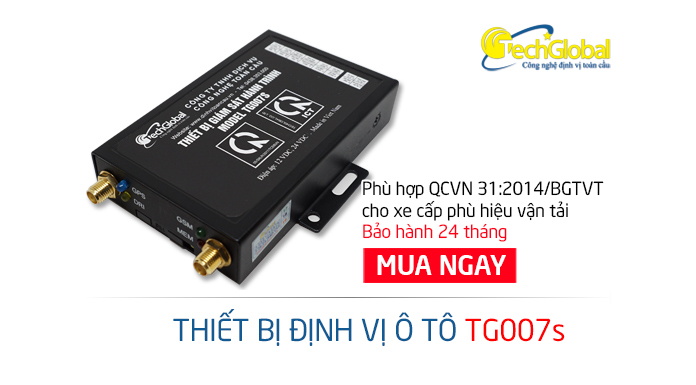 Thiết bị định vị xe tải TG007S hợp chuẩn