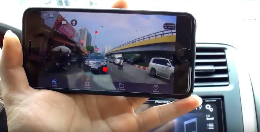 Camera hành trình Wifi W8 trang bị GPS, Wifi siêu hiện đại