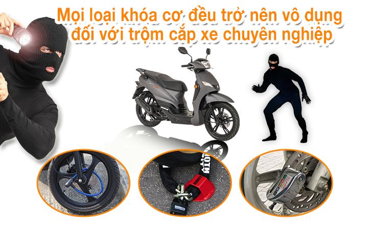 KHóa chống trộm cho xe máy để bảo vệ xe máy