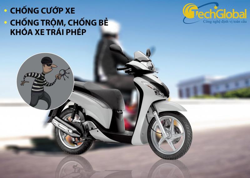 Khóa chống trộm xe máy chuyên nghiệp nhất là thiết bị định vị GPS cho xe máy