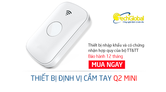 Định vị cầm tay Q2 chạy pin